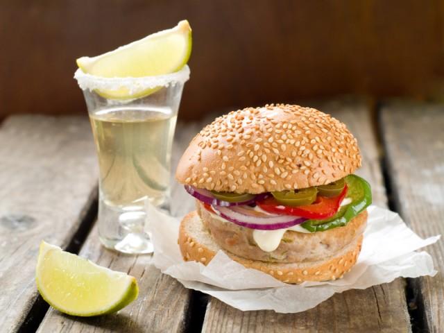 Mexican hamburger, sandwich