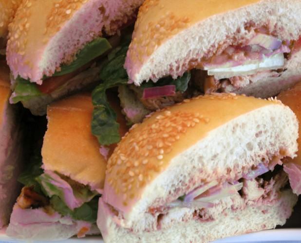 Chicken Sandwich: avocado, red onions, lettuce, tomato