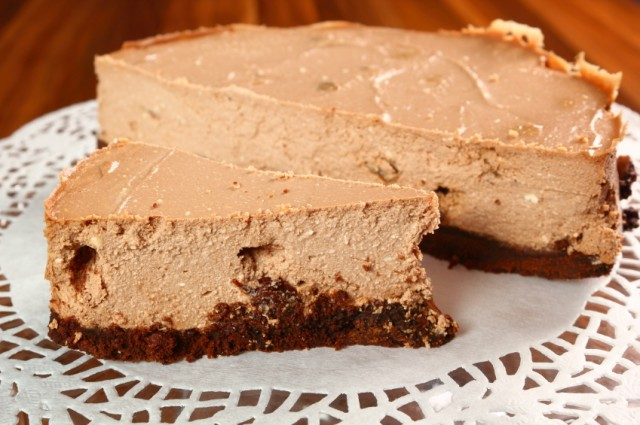 Chocolate cheesecake, pie