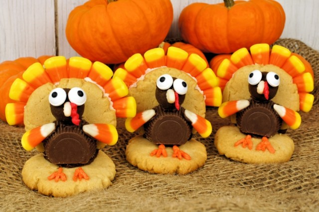 Turkey Thanksgiving Cookies
