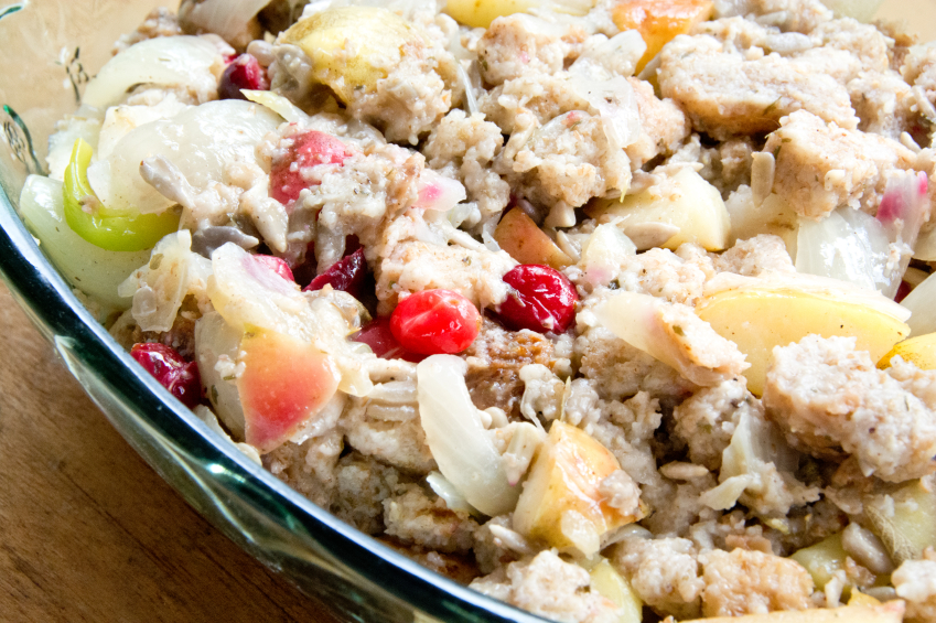 Cranberry apple stuffing, dressing