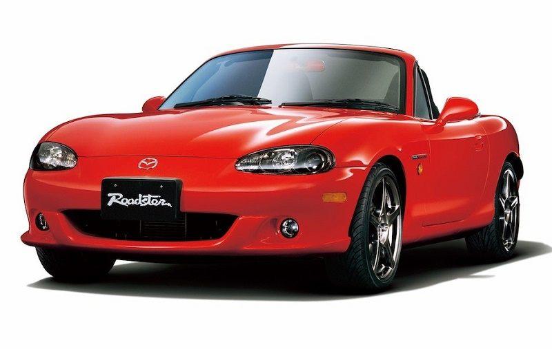 A red Mazdaspeed MX-5 Miata
