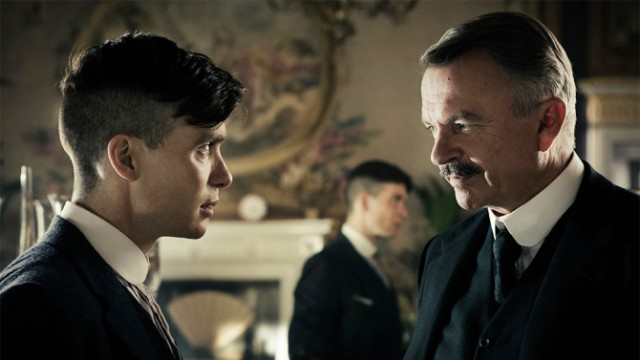 Cillian Murphy and Sam Neill in 'Peaky Blinders'