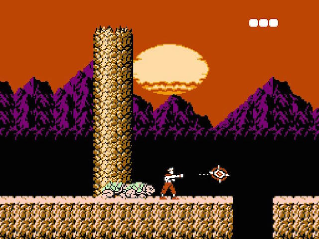A screenshot from 'Rygar' on NES