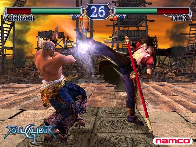 A battle in 'SoulCalibur II'
