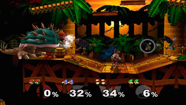 A fight in 'Super Smash Bros. Melee'