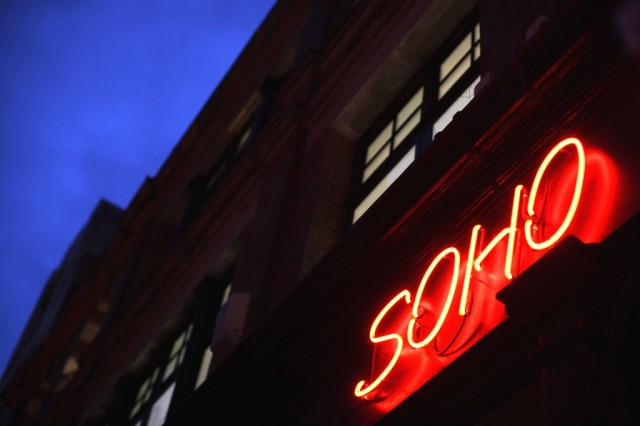 A red neon light illuminates a shop in Soho on November 29, 2011 in London, England. (Photo by Dan Kitwood/Getty Images)