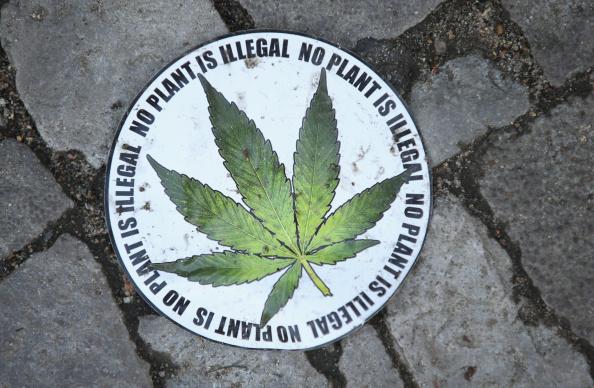 A pro-legalization sticker