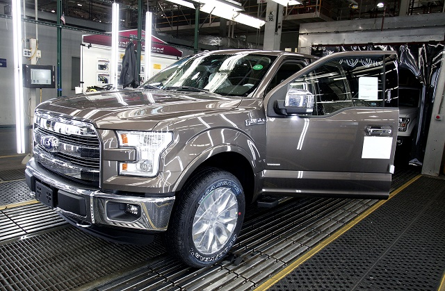 Bill Ford, Top Ford Executives Hold Press Conference At Dearborn Truck Plant