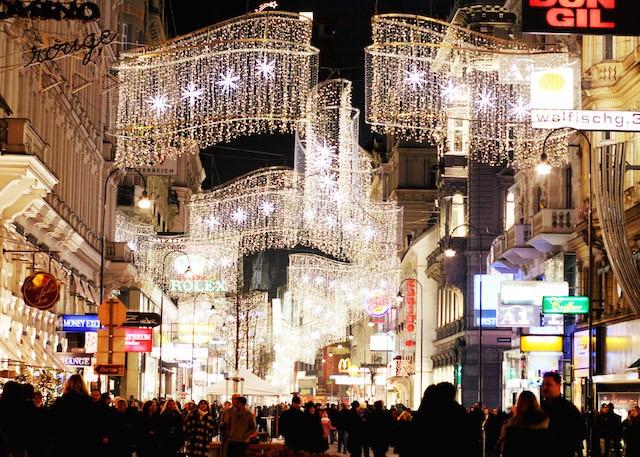 Christmas decorations Vienna