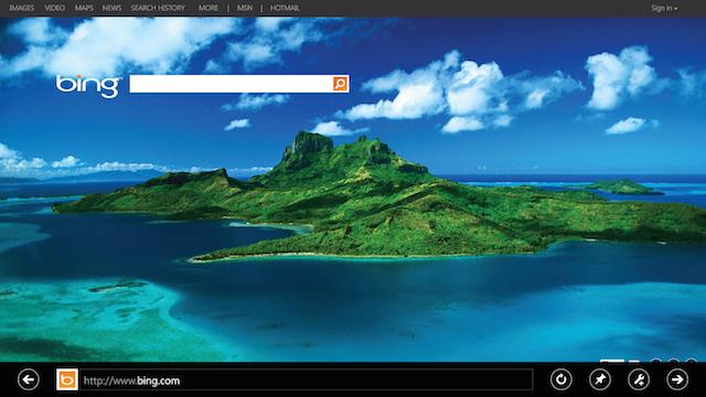 Address Bar tools in Microsoft's Internet Explorer 10