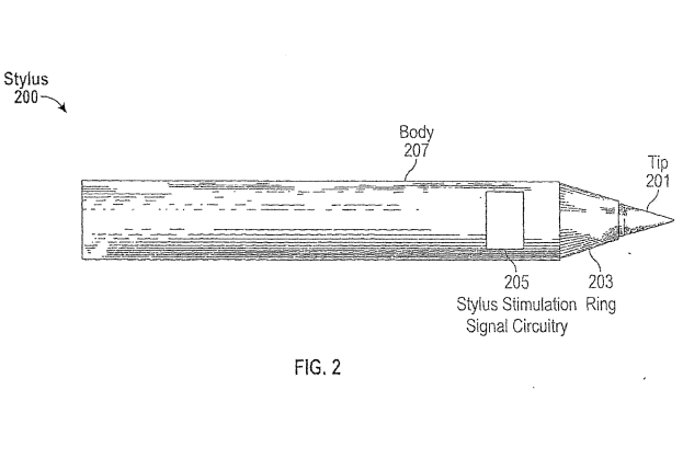 Apple stylus patent filing