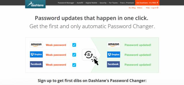 Dashlane Password Changer