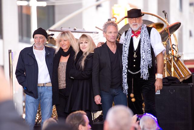 (L-R) John McVie, Christine McVie, Stevie Nicks, Lindsey Buckingham and Mick Fleetwood of Fleetwood Mac