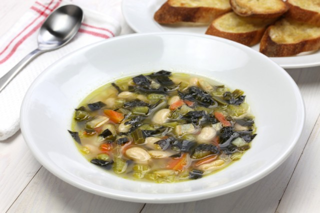 hearty soup with beans and vegetables