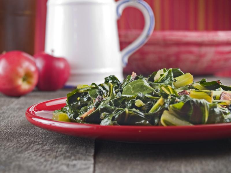 Collard greens, bacon