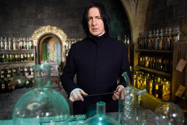 Alan Rickman starred as Professor Severus Snape in all eight of the 'Harry Potter' films.