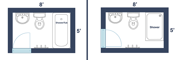 Bathroom Size Minimum : Awesome Layouts That Will Make Your Small Bathroom More Usable