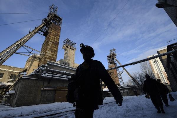 Coal miners leaving work
