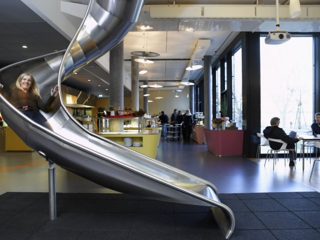 Slide at Google's engineering hub in Zurich