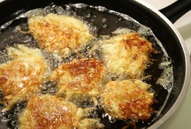 Frying Latkes For Hanukkah