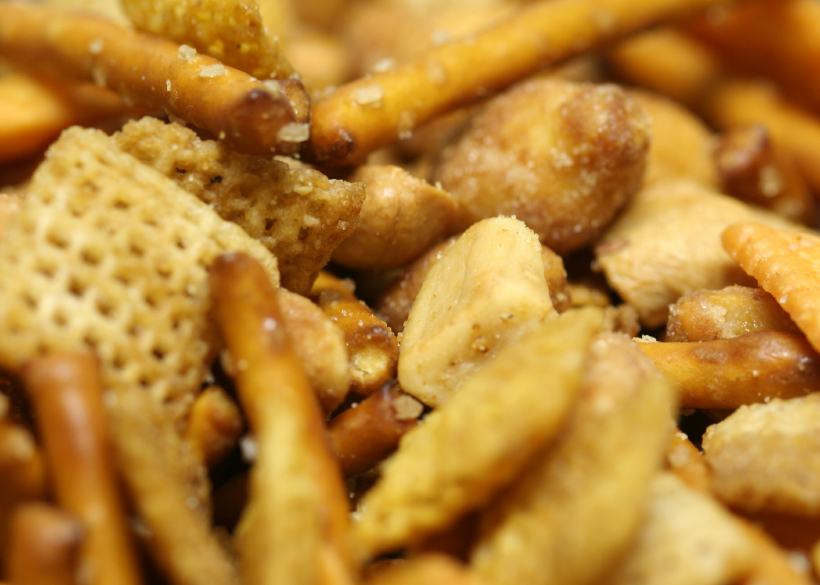 Party snack mix, chex