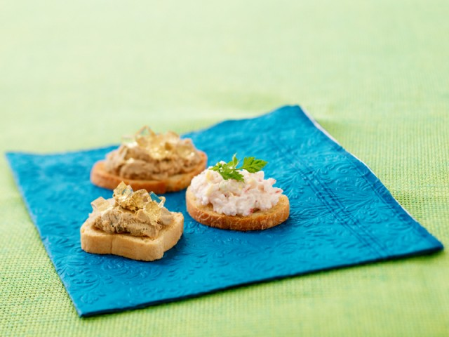 Party Snacks, pate, crab, crackers