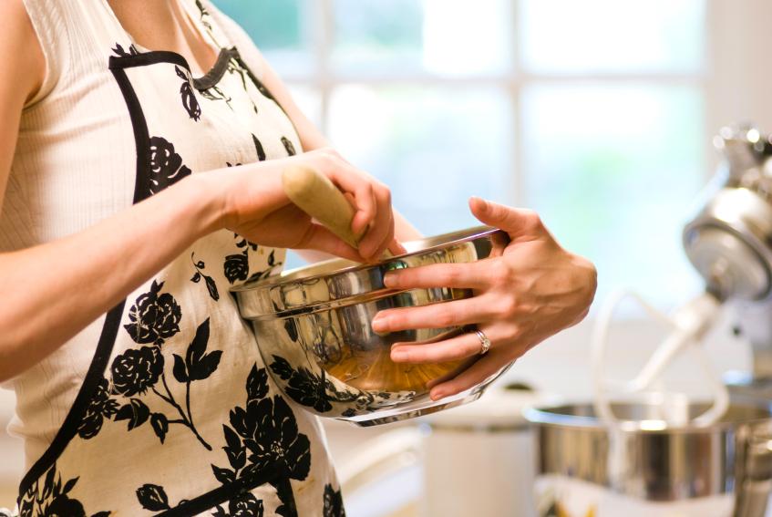 baking, mixing ingredients