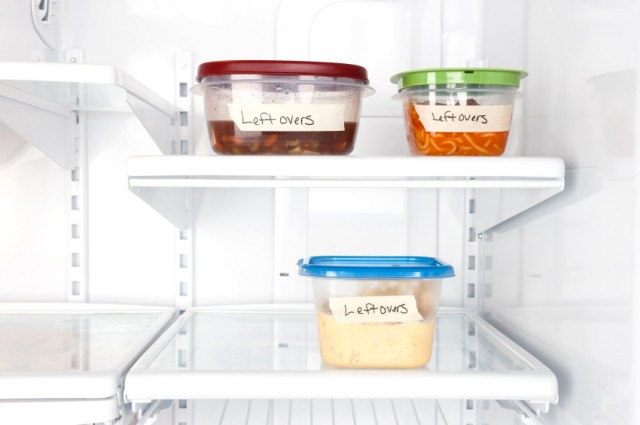 leftovers in storage containers