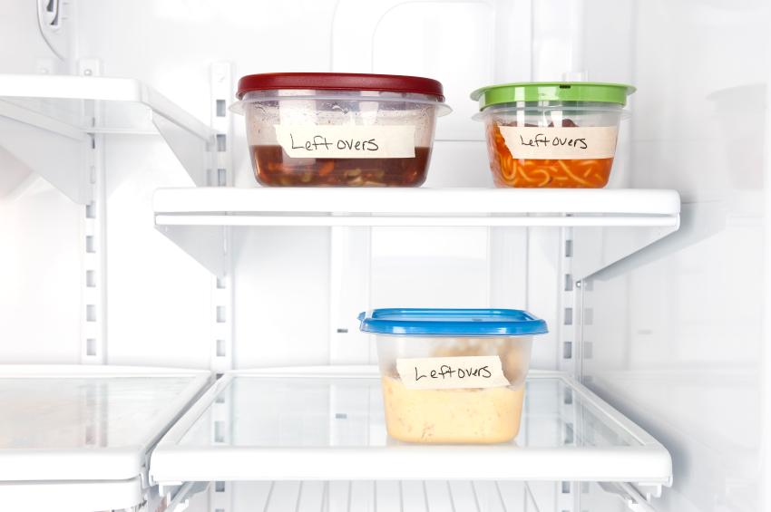 Leftovers in refrigerator