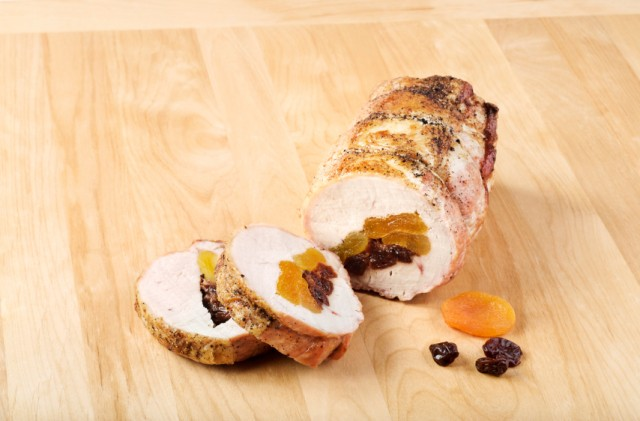 Fruit Stuffed Pork Tenderloin