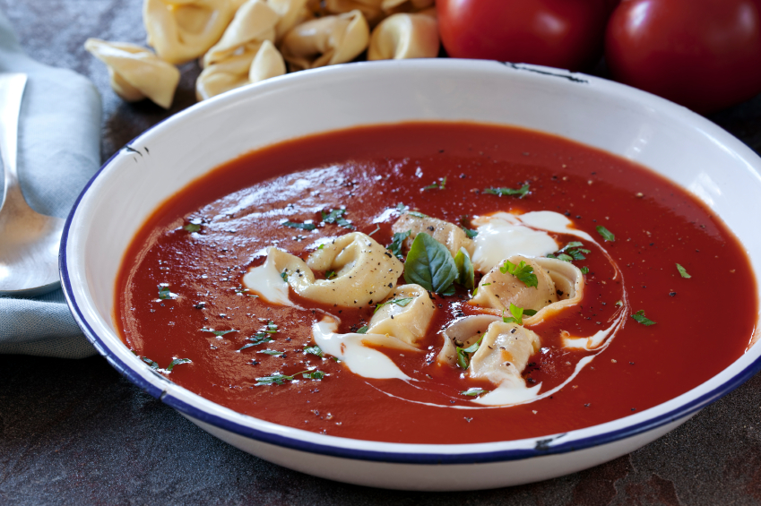 Tomato Soup with Tortellini