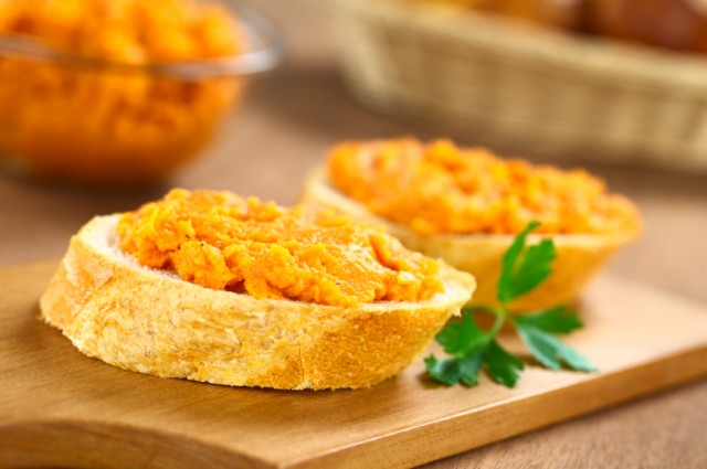 Sweet Potato Spread on Baguette