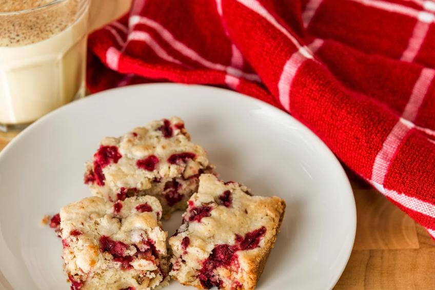 Cranberry Cake, blondies