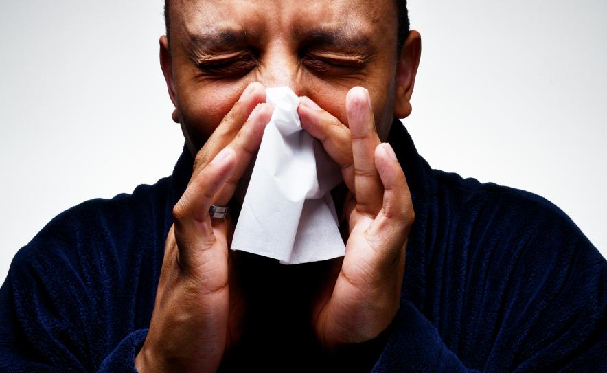 Sneezing, cold, flu, sick