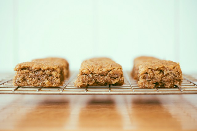 Peanut butter and honey chewy granola bars