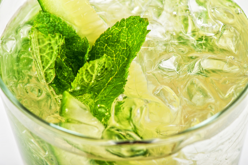 cocktail with cucumber, drink