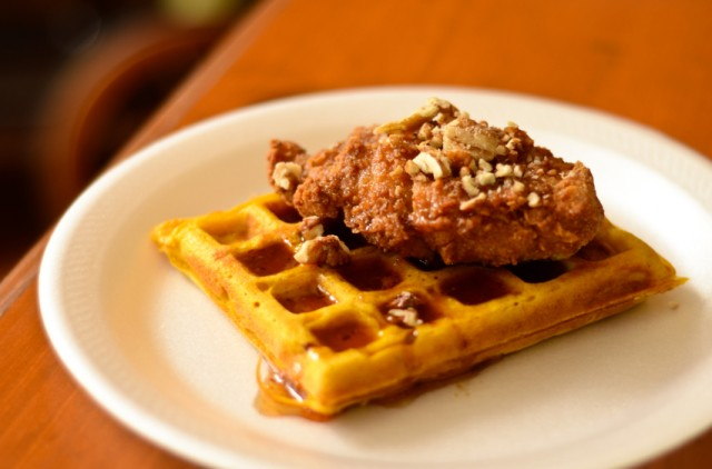 Fried Chicken on a waffle