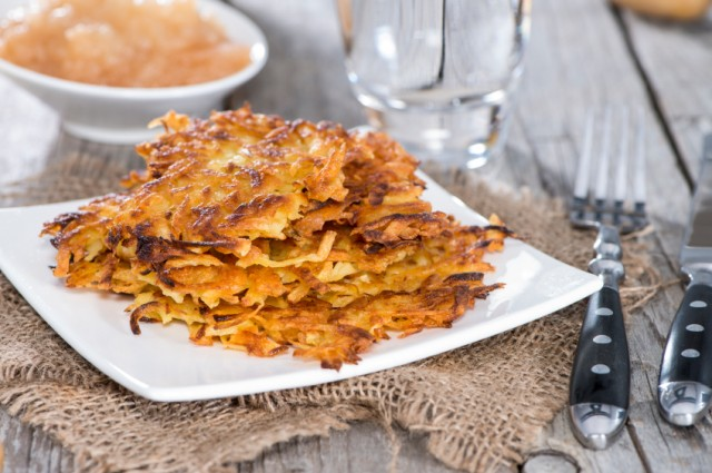Potato Fritters, latke, sweet potato pancakes