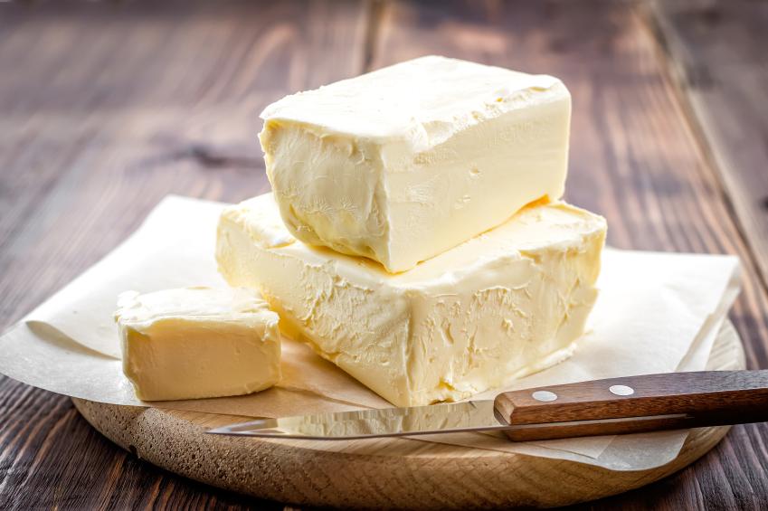 slabs of margarine