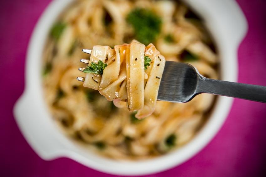 pasta, noodles, fork