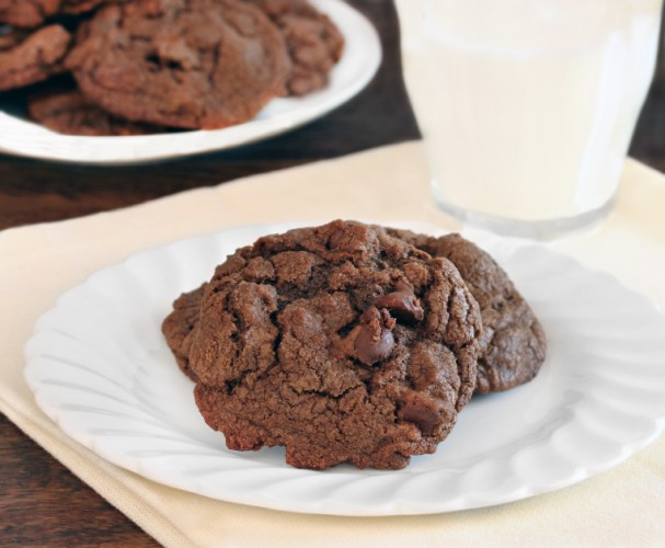 chocolate cookies on a table