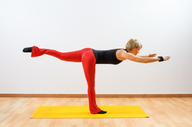 Yoga warrior pose, fitness, exercise
