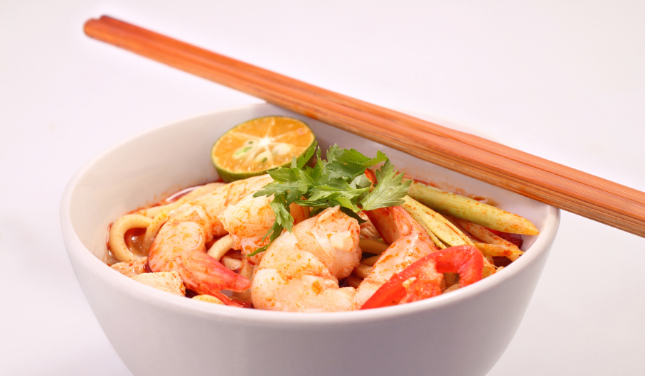 Tom Yam Noodle, shrimp stew soup
