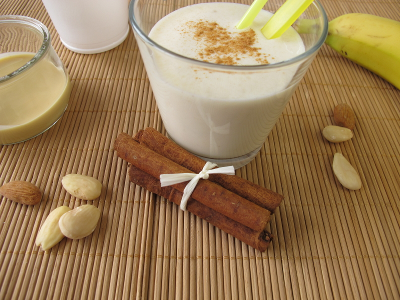 Banana Almond Butter Milkshake, Smoothie, Drink