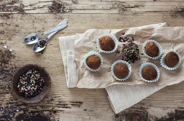 Chocolate Balls, candy, truffles