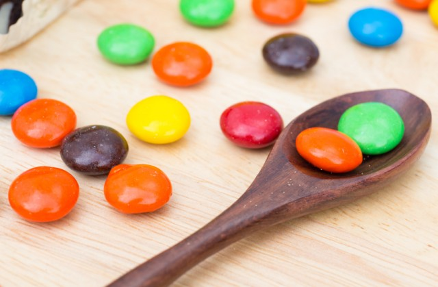 M&Ms, candy, chocolate