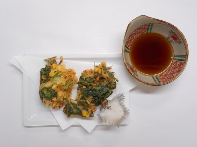 tempura nests with soy sauce