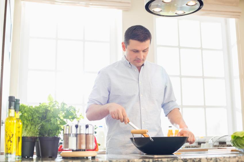 Stirring, cooking, preparing food