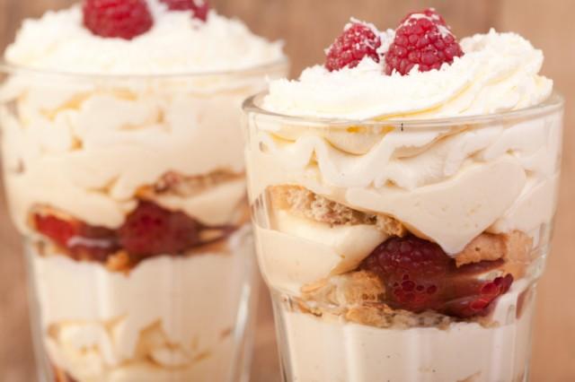 Ice Cream, raspberry, lemon and coconut desert